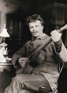 August Strindberg med gitaren 1886