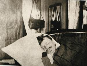 August Strindberg sover i Gersau, 1886