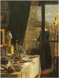 Kitty Kielland: Paris-interiør, 1881